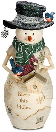 Pavilion Gift Company 81124 Bless This Home Snowman Figurine, 7 1 2