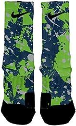 Best Buy Seattle Splatter Custom Elite Socks