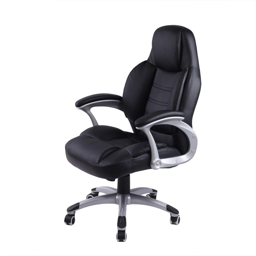 WONdere High-End Computer Chair Office Chair Leather Desk Gaming Chair With Massage Function Adjust Seat Height