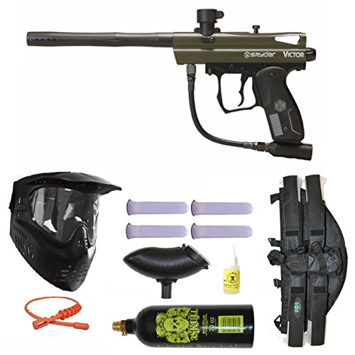 Spyder Victor Paintball Marker Gun 3Skull 4+1 9oz Mega Set -