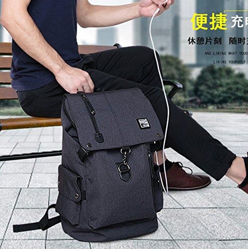 RDJM Business-Laptop-Rucksack-Set, Mit USB-Ladeanschluss, Schlanke Anti-Diebstahl-Computer-Tasche, Diagonal Brusttasche, Passt 15,6 Zoll Laptop & Notebook Black