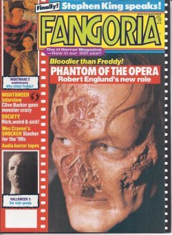 FANGORIA #87, October, Oct. 1989 (Halloween 5; Phantom of the Opera; Society; Shocker; Stephen King; -