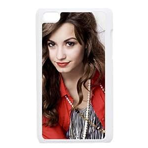 Demi Lovato funda iPod Touch 4 caja funda del teléfono celular blanco cubierta de la caja funda EEECBCAAJ01863