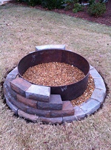 Round Steel Metal Fire Pit Ring Liner Insert 30'' X 14''