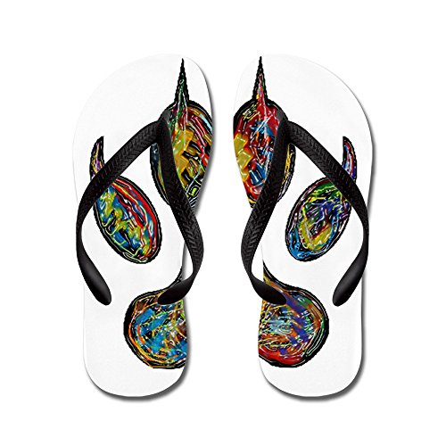 CafePress Claws - Flip Flops, Funny Thong Sandals, Beach Sandals Black