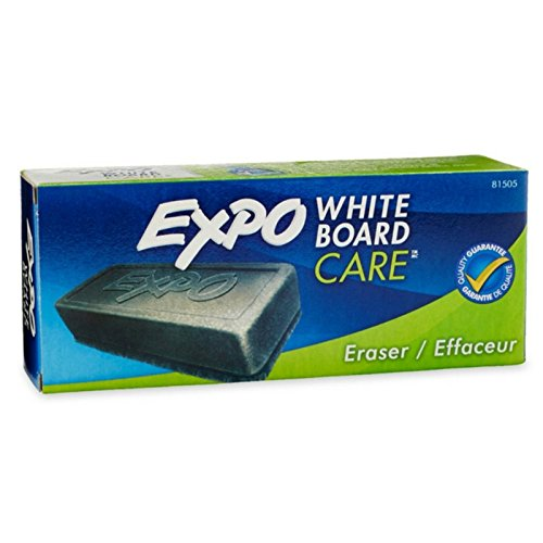 EXPO Dry Erase Board Eraser, Soft Pile, 5 1/8 Width x 1 1/4 Height (81505), Pack of 2 (Dry Eraser)