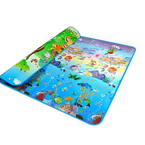 Garwarm 79*71*0.2 Inches Extra Large Baby Crawling Mat Playmat Foam Blanket Rug (Baby Play Ocean Mat)