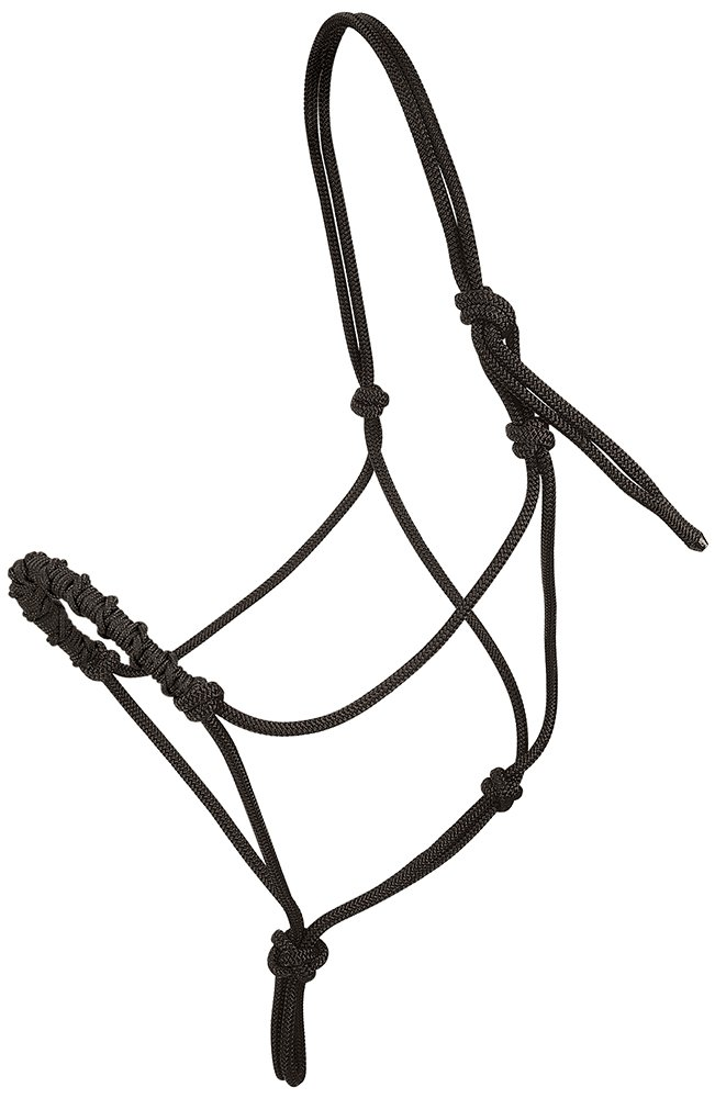 Weaver Leather Stacy Westfall Rope Halter, Medium, Black with Black Nose