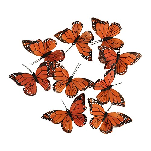 Monarch Butterfly Garland, 6.5 feet -