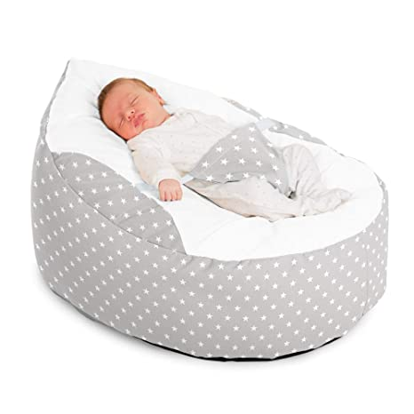 Fantastic Rucomfy Luxury Cuddle Soft Stars Gaga Baby Bean Bag Platinum Pabps2019 Chair Design Images Pabps2019Com