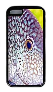 for iphone 5c Case Deep-sea Fish TPU Custom for iphone 5c Case Cover Black