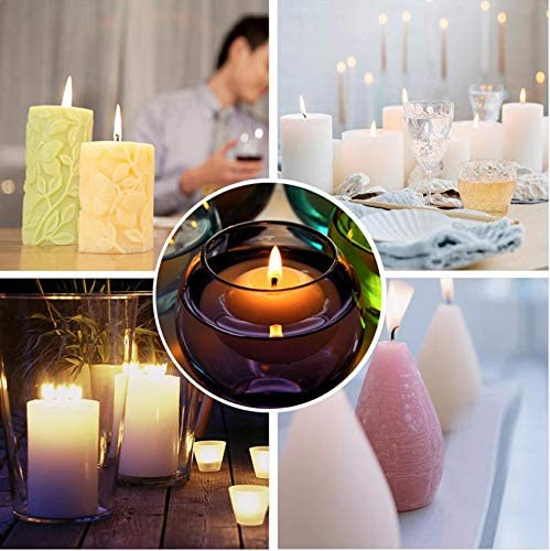 200G Soybean Wax,20G Beeswax,70 Candle Wicks Candle Making Kit Supplies Soy Wax DIY Candles Craft Tools Including 1 Candle Make Pouring Pot 2 Candle Wicks Holder,20 Candle Tins /&1 Dye 60 Sticker