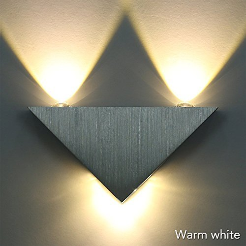 Sunix® Wall light,Warm White LED Triangle Sconce KTV Hall Hallway Lamp ,LED Decorative - Chimney Steel Installing Stainless