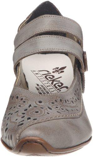 Rieker - Zapatos de vestir de cuero para mujer Gris