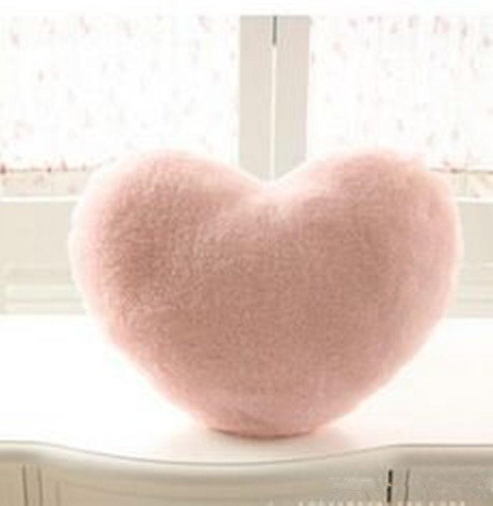 Cojin de felpa con forma de corazón muy suave