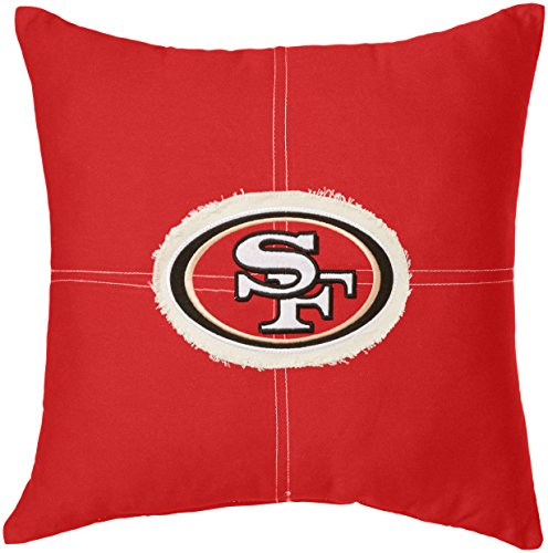 y Officially Licensed NFL San Francisco 49ers Letterman Pillow, 18