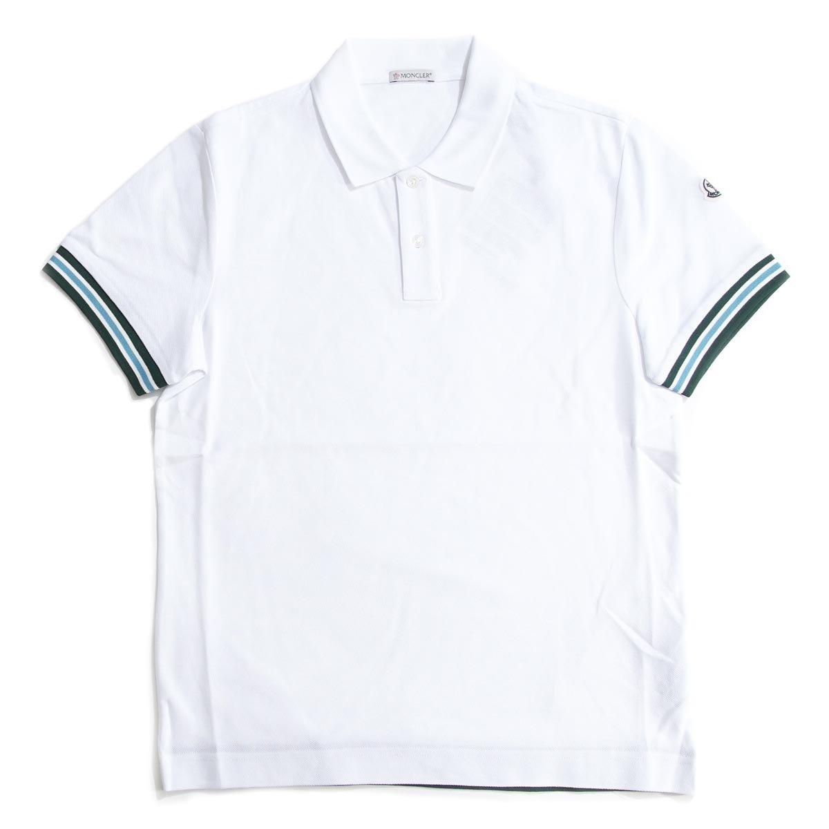 (モンクレール) MONCLER ポロシャツ [並行輸入品] B06WGRV24D M|ホワイト ホワイト M