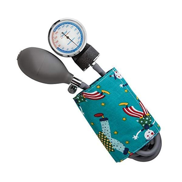 AIESI Esfigmomanometro Tensiómetro Manual Pediatrico Profesional Aneroide clásico con brazalete de colores para ninos DOCTOR PRECISION CHILD ✔ Medidor de presión sanguinea mecánico ✔ Garantía 24 meses 3