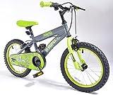 Silverfox Toxin 16' Boys Bike - Green and Black