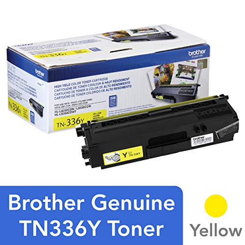 Brother Genuine High Yield Toner Cartridge, TN336Y, Replacement Yellow Toner, Page Yield Up To 3,500 Pages, Amazon Dash Replenishment Cartridge, TN336