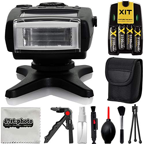 Opteka IF-500N TTL Dedicated Compact Flash with LCD Display and Protective Case for Nikon D850 D7500 D5600 D3400 D500 D5 D7200 D5500 D750 D810 D3300 D4S D5300 Df D610 D7100 D5200