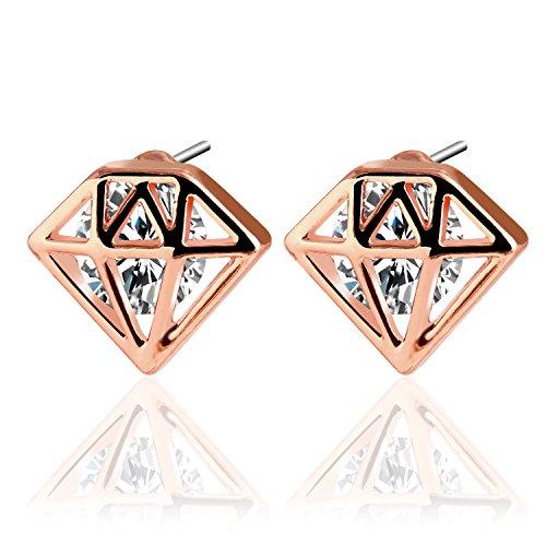UHIBROS Diamond Earrings Stainless Zirconia