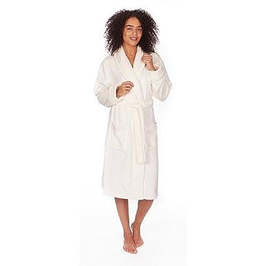 Forever Dreaming Women s Full Length Soft Fleece Dressing Gown Robe   Amazon.co.uk  Clothing 8c0622c85