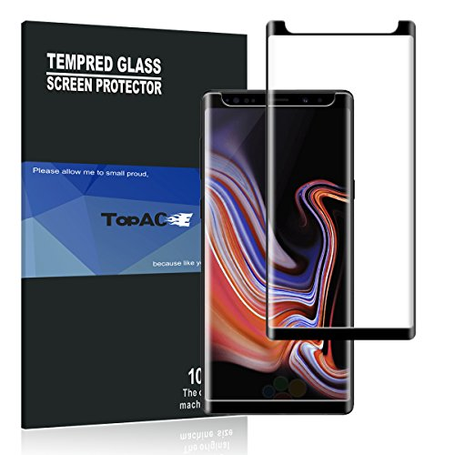 Samsung Galaxy Note 9 Screen Protector, TopACE Samsung Galaxy Note 9 Tempered Glass 9H Hardness [Case Friendly][Anti-Scratch][Bubble Free] for Samsung Galaxy Note 9 (Black)