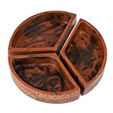 Rust Triangular Etched Clay Dishes 'Clay Three-Piece Serving Dish'