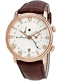 Villeret Reveil GMT Stamped Flinque Opaline Dial Mens Watch 6640-3642-55B