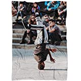 Westlake Art - Dance Man - Fleece Blanket - Picture Photography Soft Fuzzy Home Bedroom Living Room Decor Throw Lightweight Cozy Plush Microfiber Bed Couch - 60x80 Inch (15415)