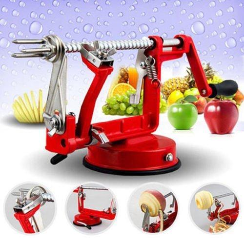 3 in 1 Apple Slinky Machine Peeler Corer Potato Fruit Cutter Slicer Kitchen Tool - 1