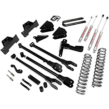 Rough Country - 591.20 - 8-inch 4-Link Suspension Lift Kit w/ Premium N2.0 Shocks for Ford: 05-07 F250 Super Duty 4WD, 05-07 F350 Super Duty 4WD