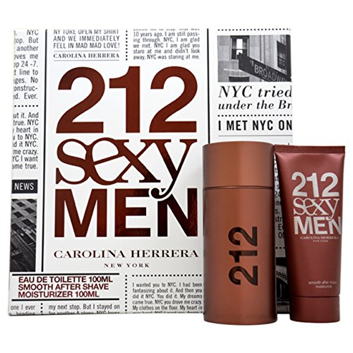 (Carolina Herrera 212 Sexy Men Gift Set for Men, 2 Count)