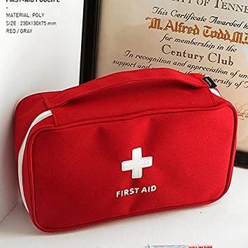 Beautyrain Portable Vide Premier Trousse de Secours Pouch Accueil Bureau M/édical durgence Rescue Voyage Case Sac
