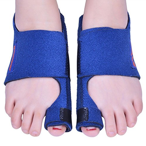 - Bunion Corrector by Quanquer [Pair] - Bunion Splint Toe Straightener Brace for Hallux Valgus Pain Relief Fits Men & Women (blue)