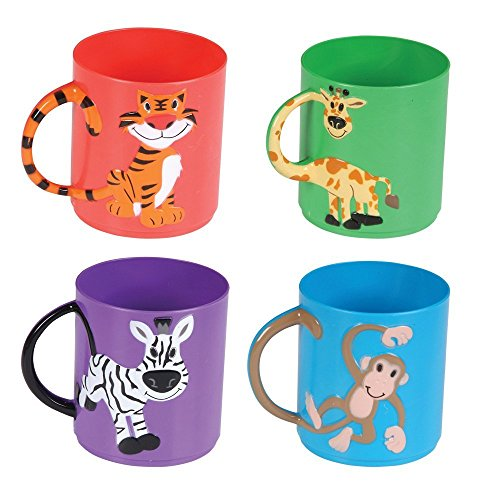 Rhode Island Novelty Animal Mugs Assorted Color and design (12 Pack)