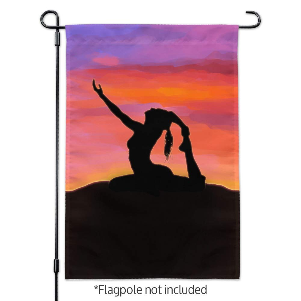 Amazon.com : Graphics and More Yoga Silhouette Against ...