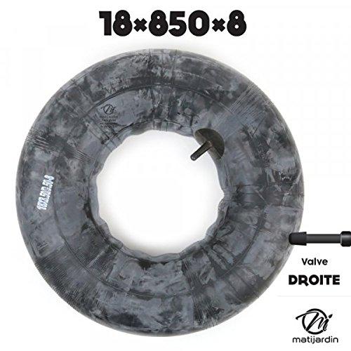 Chambre /à air sp/éciale motoculture 18 x 850 x 8 valve droite Pi/èce neuve
