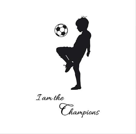 hzcl Fútbol Niños Wallpaper Soy El Campeón De Pared De PVC ...
