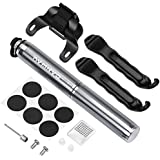 Canway Mini Bike Pump,Fits Presta & Schrader,High Pressure 160 PSI,Light & Portable,Bicycle Tire Pump for Road, Mountain Bikes,Soccer, Inflatable Toys