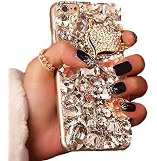 Samsung Galaxy S8 Plus + Case, WwWSuppliers Luxury Fancy Bling Fox Crystal Rhinestone Large Diamond