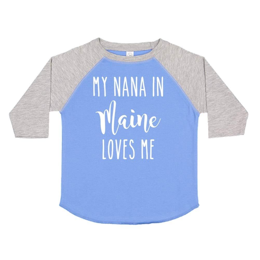 Toddler//Kids Raglan T-Shirt My Nana in Maine Loves Me