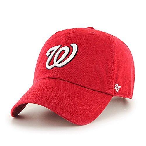 Navy Blue Mlb Batting Helmet - MLB Washington Nationals '47 Brand Navy Basic Logo Clean Up Home Adjustable Hat