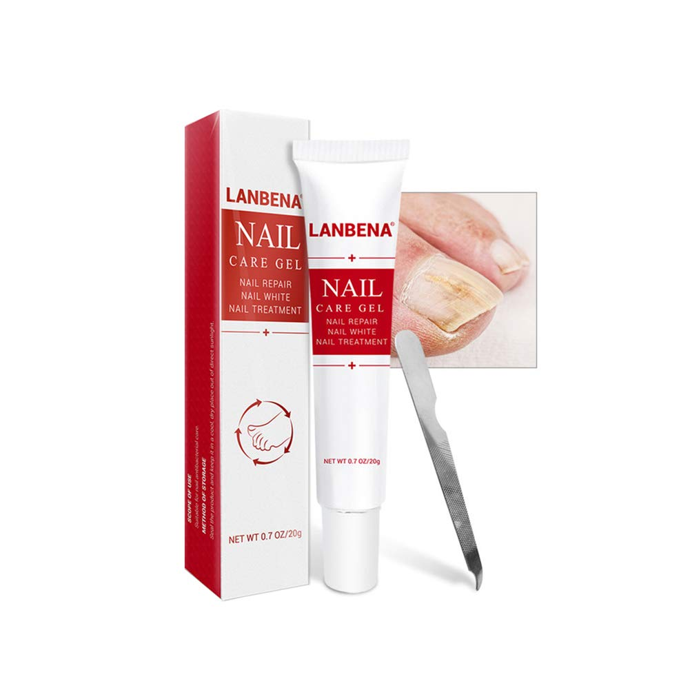 Fungus Stop Nail Antifungal Treatment Cream Fungal Nail Solution Against Nail Fungus and Repair Nail Cream for Toenails & Fingernails - 20g/Tube With Nail File LANBENA