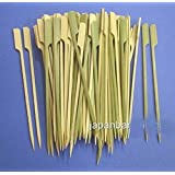 JapanBargain 200pcs Paddle Style Teppo Gushi BBQ Bamboo Skewers 7 inch