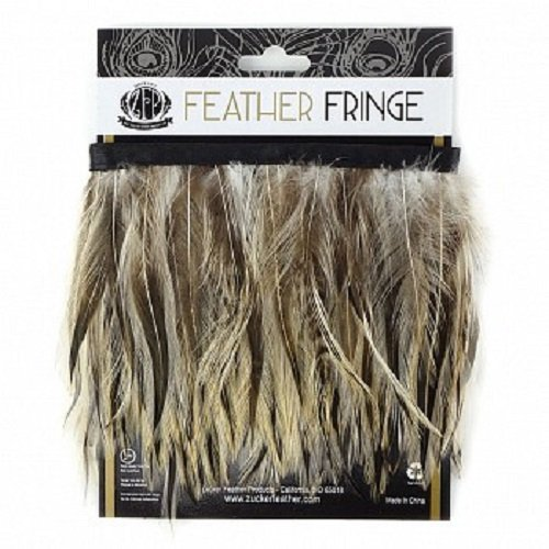 (Zucker Feather Products Badger Natural Feather Hackle Fringe)