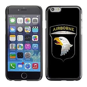 CaseCaptain Carcasa Funda Case - Apple Iphone 6 PLUS 5.5 / US AIRBORNE Military Sign /