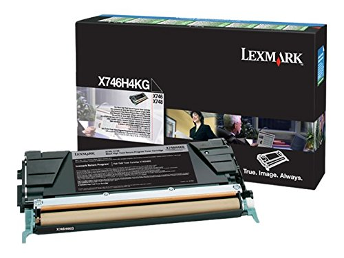 X746H4KG Black 12000 Page Yield Toner Cartridge for Lexmark X746 and X748 ()