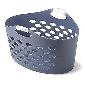 Rubbermaid FG260100ROYBL Flex 'N Carry Laundry Basket, 1.9-Bushel, Royal Blue Flex 'N Carry Laundry Basket, 1.9-Bushel